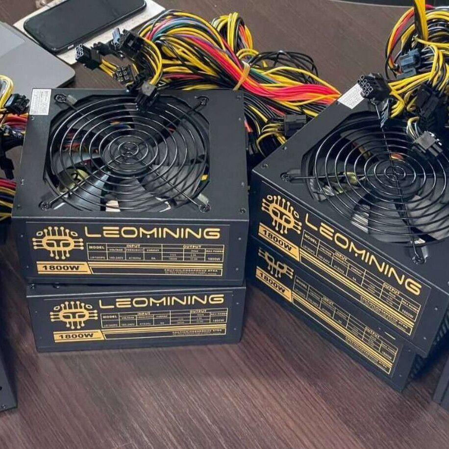 Блок питания для GPU фермы на видеокартах - LeoMining на 1800w